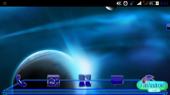 Next Launcher Theme Krome 3D