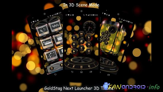 GoldStag Next Launcher Theme3D