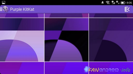 Purple KitKat Launcher Theme