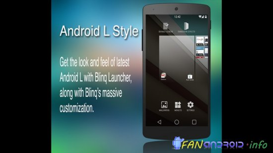 Blinq Launcher Android L Style