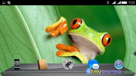 Next Launcher Theme Mac 3D