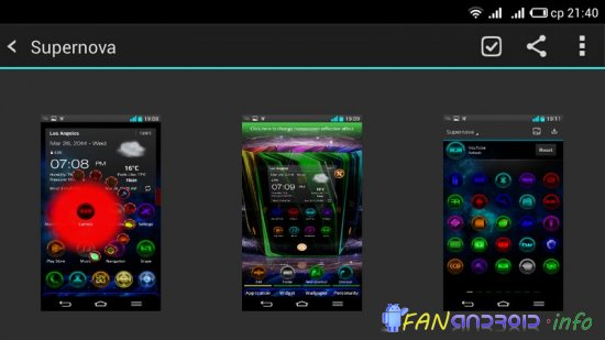NEXT LAUNCHER THEME SUPERNOVA
