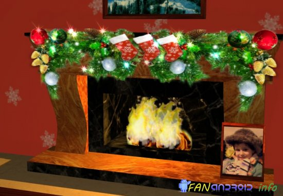 3D Christmas Fireplace HD Full